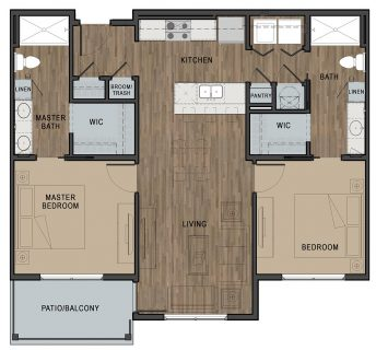 2 Bed / 2 Bath / 926 sq ft